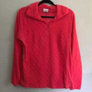 Columbia Pink Fleece Pullover, size L